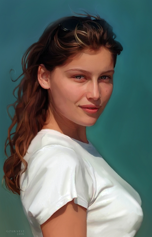 Portrait of Laetitia Casta by polyarny on Stars Portraits c647fb804bf8